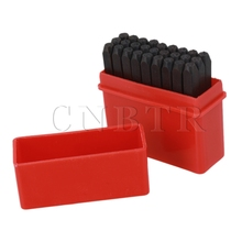 CNBTR 27pcs Stamps Set Punch Steel Letters Alphabet Metal Die Tool 2mm Font With Case