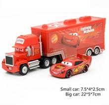 Disney Pixar Cars 2pcs Lightning McQueen Uncle Jimmy The King 1:55 Diecast Metal Alloy Modle Toys Car Gift For Kids MT