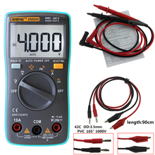ANENG AN8000 Digital Multimeter Backlight AC/DC Ammeter Voltmeter Ohm Portable Meter +Alligator clip jumper wire test lead(China)