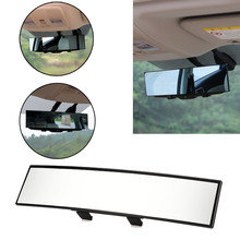 2017 New Universal Large Vision Car Proof Mirror Outlook Car Wide Angle Interior Rearview Mirror car accessories(China)