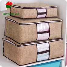 Non-Woven Family Save Space Organizador Bed Under Closet Storage Box Clothes Divider Organiser Quilt Bag Holder Organizer 64505