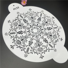 1Pcs Leaves Flowers Spell Coffee Cake Pattern Printing Stencil Fondant DIY Decorating Design Modeling Mold Cake Spray Stencil
