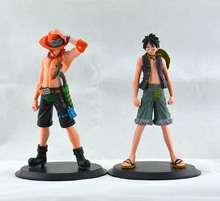 2015 New Japan Anime One Piece The Monkey.D.Luffy And The Portgas D Ace PVC Action Figure Set Toys Gifts