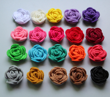 Free Shipping!2016 New 60pcs/lot 20colors Fashion handmade felt rose flower Diy for hair accessories headband ornaments