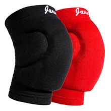 JANUS 1 Pair New Elastic Thickening Kneepad Football Volleyball Extreme Sports Knee Pads Brace Support Basketbal Knee Protector
