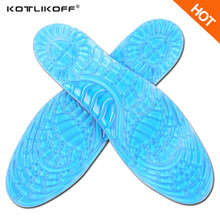 KOTLIKOFF Gel Silicone Sports Insoles Women Men Shoes insole Pad Orthopedic Massage Damping Deodorant Military Soft Comfortable(China)