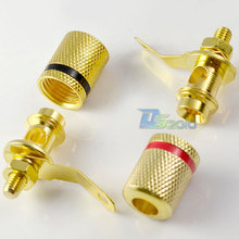 High Quality Brand New 1 Pair Amplifier Terminal Binding Post Banana Plug Jack 2Pcs Adapter Connector