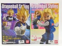 Dragonball Styling model Android 18 lazuli / vegeta / blue hair Lunch Lanci sexy pvc DBZ figure toy doll