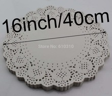 Free shipping 16inches/400mm Vintage napkin Hollowed Lace paper Doyleys paper Doilies Wedding Decoration(100pcs/bag)