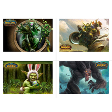 World of Warcraft WOW Game Photographic Paper Waterproof Poster Wall Stickers Home Internet Bar Decor Boy Birthday Gift Posters
