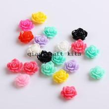 500pcs 10 mm Mini Rose Resin Flower Cabochons of Assorted Colors for Craft Rosette Flowers Perfect for Earrings and Bobby Pins