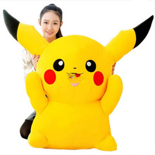2016 new 120cm JUMBO Plush Pikachu Toy Soft Stuffed Large Cartoon Anime Pikachu Doll Nice Gift
