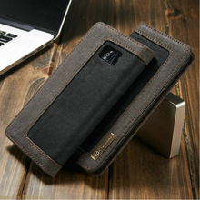For Samsung Galaxy S6 S7 Edge S8 Plus CaseMe Magnetic Denim Wallet Stand Case For Samsung S7 Note 8 Cover Card Holder Phone Bag(China)