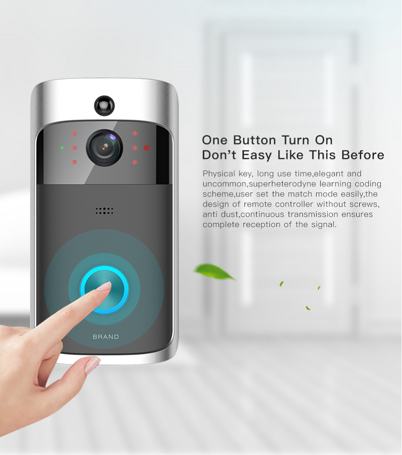 02 Wireless Doorbell Ring Chime Door Bell Video Camera WiFi IP 720P Waterproof IR Night Vision Two Way Audio