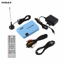 OCDAY High Quality Digital DVB-T Stand-alone LCD TV Box Receiver Recorder Remote Control Radio Hot Sale in stock!!!