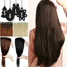 23-30 inches, Real thick 145g 3/4 Full Head hair Extensions Extentions, 100% natural hair Piece, Real Synthetic, as remy style