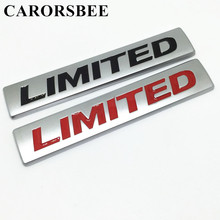 CARORSBEE 3D metal Zinc alloy Chrome LIMITED matte Emblem Badge Decals car stickers For Toyota corolla auris For Volvo V40 S60L(China)