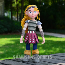 "HOW TO TRAIN YOUR DRAGON 2 TOYS 15"" ASTRIC PLUSH SOFT DOLL POSEABLE FIGURE"