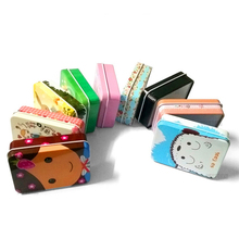 1 pcs Mini Cute Kawaii Cartoon Tin Metal Box Case Home Storage Organizer For Jewelry Kids Toy Gift Home Supplies
