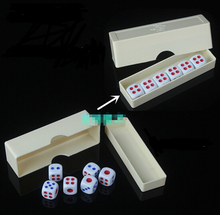 45pcs Wonderful magic dice flying dice dice strange new super power toy magic props YH122