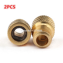 2Pcs Bicycle French Turned American Copper Conversion Mouth MTB Road Bike Valve Adapters Pump Tire Tools NEW Arriveds HOT SALE