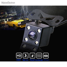 Parking Assistance System Universal HD CCD 4 LED Night Vision Car Rear View Camera Backup side wide degree waterproof(China)