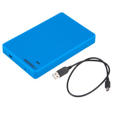 "White  USB 2.0 SATA HDD SSD Enclosure HDD External 2.5"" Case Mobile Box Black Blue White"