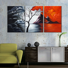 Triple Abstract Decorative Painting Module Picture HD Print Canvas Oil Painting Home Decorative Film Poster Modern Art(China)