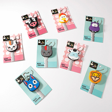 Animal Silicone Key Cap Owl Keychain Women Bag Charm Accessories Key Holder Superman Key Chains Mickey Key Ring Stitch Key Cover