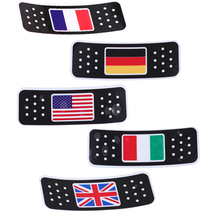 -40% American/Italian/German/British/French Flag Sticker Decoration For Car Truck Motocross Motorcycle Stickers And Decals New