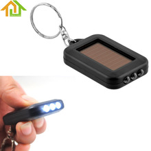 5PCS Mini Keychain LED Solar Power Flashlight Torch Rechargeable Key Ring Flash Light Lamp