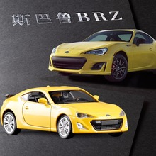 Free Shipping 1/38 Scale Subaru BRZ Sports Car Model Toys Diecast Metal With Pull Back Car Model Toy For Kids Christmas Gifts(China)