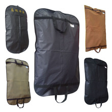 Black Non Woven Suit Zip Bag Hanger Storage Home Dress Coat Garment Storage Travel Carrier Bag Cover Hanging Dustproof Protector