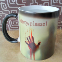 New Arrive Mercy please The Walking Dead Mugs Change Color Ceramic Coffee Tea Mug Cup Heat Sensitive Morphing Zombie Magic Mug