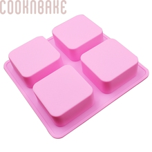 COOKNBAKE DIY Silicone Handmade Soap Mold 6.6 * 6.6 * 3cm Cubes Surface Curved Design Cake Baking Mold SSM-001-8(China)