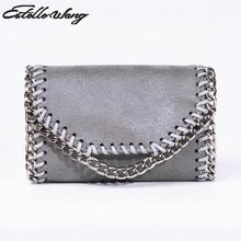 Estelle Wang Purse Import Pvc Leather Mini Coins Zero Wallets Bags Women's Cute Small Chain Change Money Wrist Bags Pocket Pouch(China)