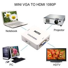 in stock! Mini HD 1080P Audio VGA To HDMI HD HDTV Video Converter Box Adapter With HDMI Cable For PC Laptop DVD VGA to HDMI.
