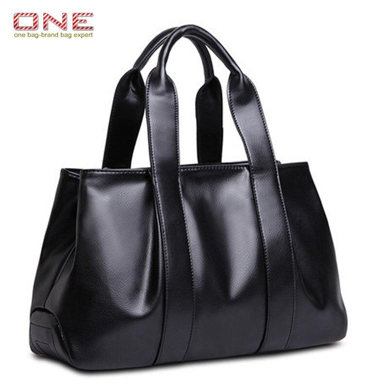 cowhide leather handbag 2016 vintage simple bags for women large shoulder bags messenger bag PT676<br>