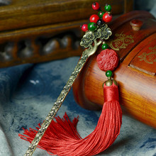 Hair Sticks Headwear Vertical Clip 2016 New DIY Flowers Lacquer Carving Tassel Hairpins Beads Retro Jewelry Accessories F004