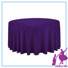 "free shipping 15pcs round 90"" purple fabric make tablecloths for large event(China)"