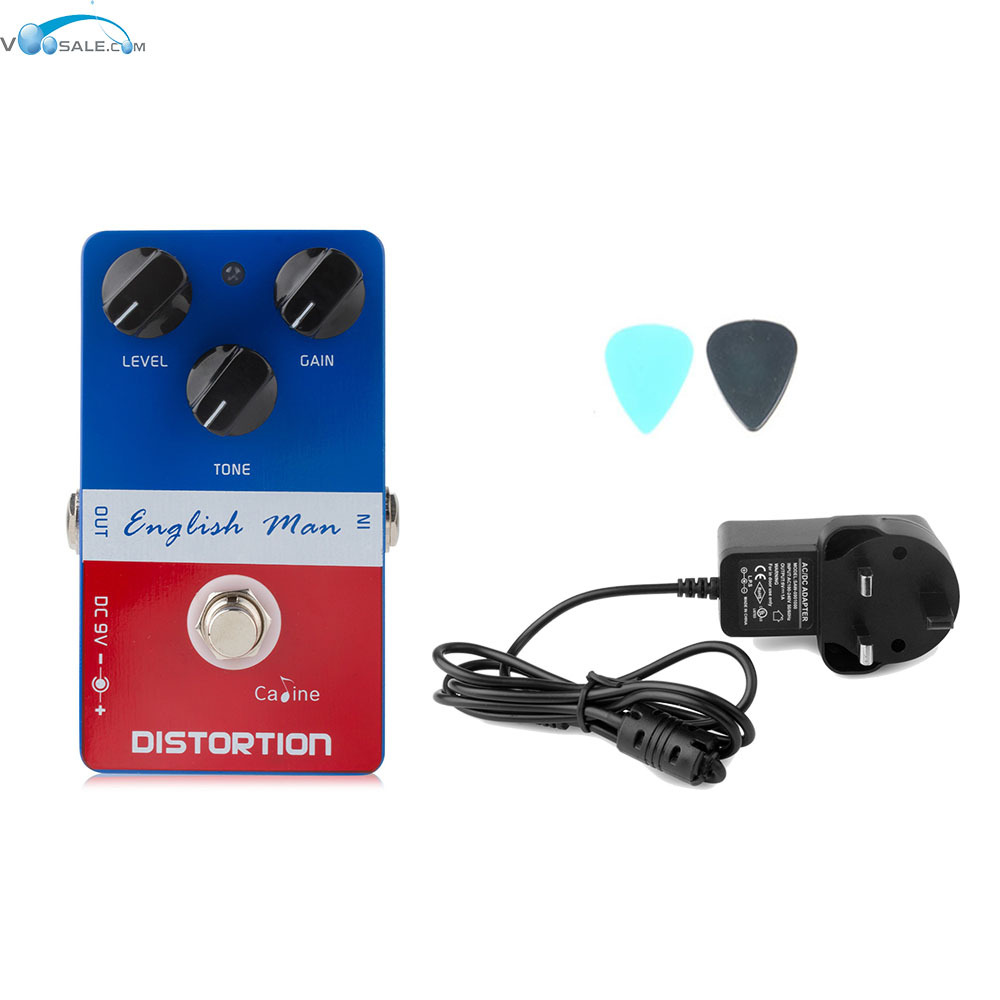Caline CP-14 English Man Distortio Guitar Effect Pedal High Frequency+AC100V-240V to DC9V/1A Adapter Use Have AU UK US EU Plug<br>