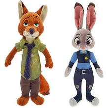 1PCS 22CM/30CM Hot Zootopia Plush Rabbit JUDY Hopps FOX NICK WILDE TOYS FOR BABY KIDS DOLLS