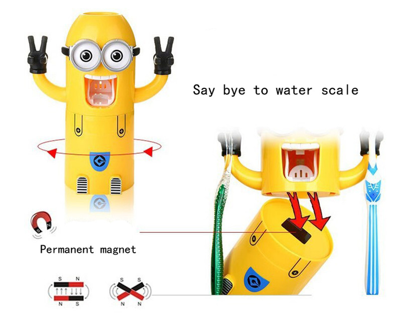 Minion Automatic Toothpaste dispenser + Brush Holder 8