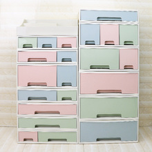 Plastic Large Drawers Jewelry Cosmetic Desk Make Up Organizer Makeup Tools Book Bathroom Office Organizer Holder Box DIY Case
