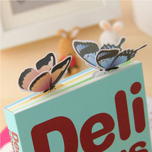 30pcs/lot Kawaii 3D Butterfly paper bookmarks for books Cute school paper clips book markers stationery office school supplies(China)