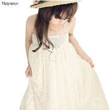 Children Dress Summer Girls Sleeveless Princess Beach Dresses 2017 Fashion Pretty Kids Dress for Vestidos Infant Party Clothing