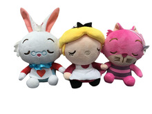 Disney 1pcs Alice In Wonderland Stuffed Plush Rabbit Doll Cat Toy Animal Toys for Children Kids Gift(China)