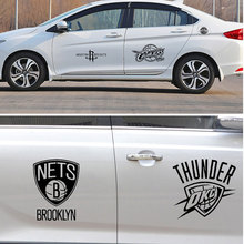 Buy 1 get 1 free Basketball Vinyl Decal Stickers NBA Team Logo Choose From All 30 Teams in Black for car styling decoration