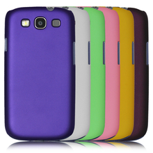 "Silky Smooth Hard Plastic Shell 4.8"" sfor Samsung Galaxy S3 SIII Case For Samsung i9300 Galaxy S3 Cell Phone back Cover Case New"