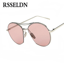 RSSELDN Fashion Trend Jumping Jack Sunglasses Women Metal Frame Transparent Colorful Lens UV400 Sun Glasses Men Brand Design